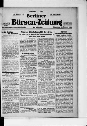 Berliner Börsen-Zeitung vom 13.01.1925