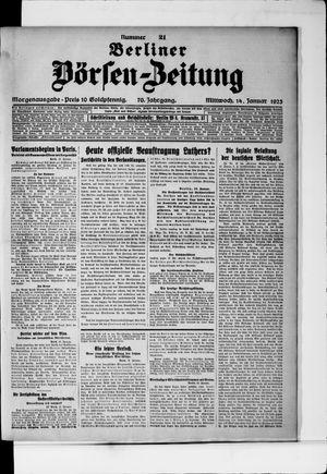 Berliner Börsen-Zeitung vom 14.01.1925
