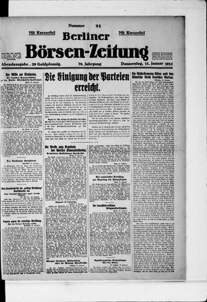 Berliner Börsen-Zeitung vom 15.01.1925