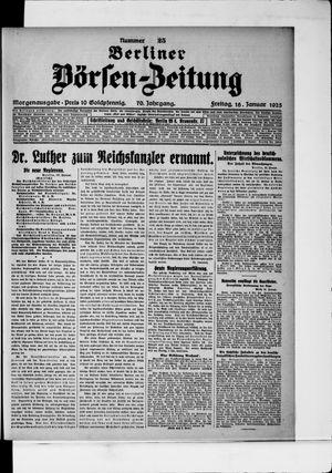 Berliner Börsen-Zeitung vom 16.01.1925