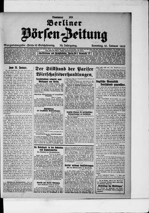 Berliner Börsen-Zeitung vom 18.01.1925