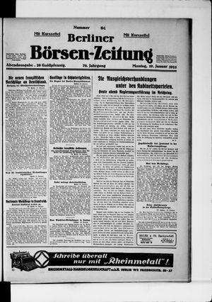 Berliner Börsen-Zeitung vom 19.01.1925