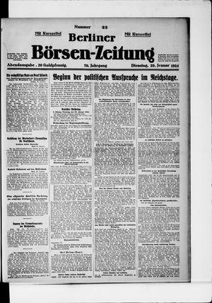 Berliner Börsen-Zeitung vom 20.01.1925