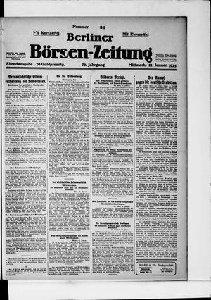 Berliner Börsen-Zeitung vom 21.01.1925