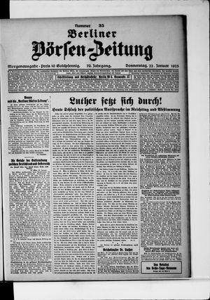 Berliner Börsen-Zeitung vom 22.01.1925