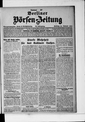 Berliner Börsen-Zeitung vom 23.01.1925