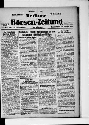 Berliner Börsen-Zeitung vom 24.01.1925