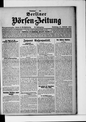 Berliner Börsen-Zeitung vom 25.01.1925