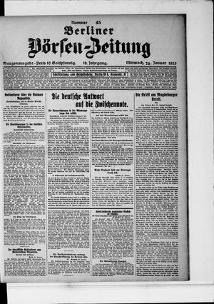 Berliner Börsen-Zeitung vom 28.01.1925