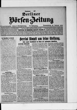 Berliner Börsen-Zeitung vom 29.01.1925