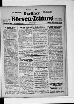 Berliner Börsen-Zeitung vom 30.01.1925