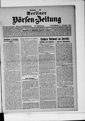 Berliner Börsen-Zeitung vom 31.01.1925