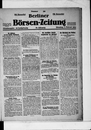 Berliner Börsen-Zeitung vom 03.02.1925