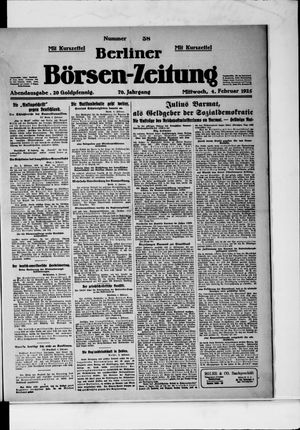 Berliner Börsen-Zeitung vom 04.02.1925