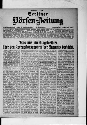 Berliner Börsen-Zeitung vom 05.02.1925