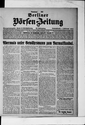 Berliner Börsen-Zeitung vom 07.02.1925