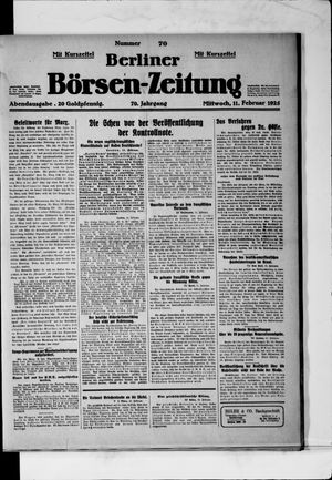Berliner Börsen-Zeitung vom 11.02.1925