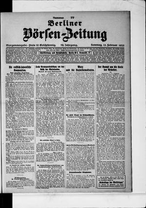 Berliner Börsen-Zeitung vom 15.02.1925