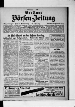 Berliner Börsen-Zeitung vom 17.02.1925