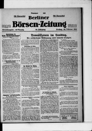 Berliner Börsen-Zeitung vom 20.02.1925