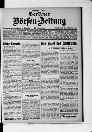 Berliner Börsen-Zeitung vom 21.02.1925