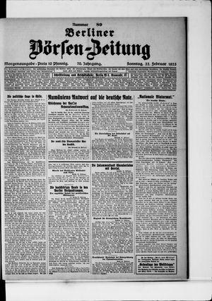 Berliner Börsen-Zeitung vom 22.02.1925