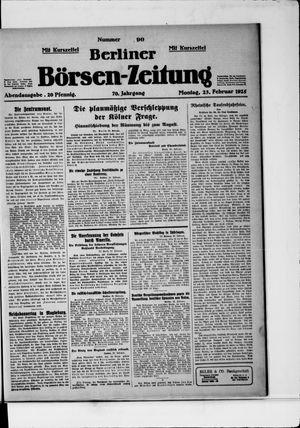 Berliner Börsen-Zeitung vom 23.02.1925