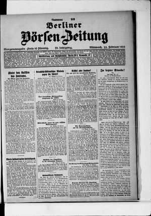 Berliner Börsen-Zeitung vom 25.02.1925