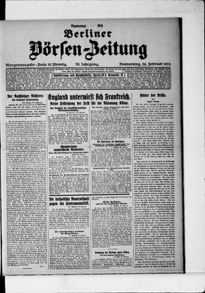 Berliner Börsen-Zeitung vom 26.02.1925