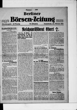 Berliner Börsen-Zeitung on Feb 28, 1925