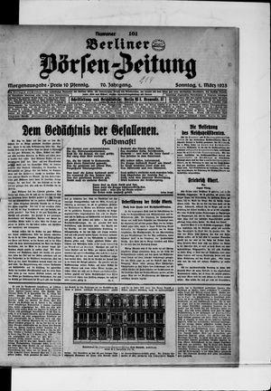 Berliner Börsen-Zeitung vom 01.03.1925