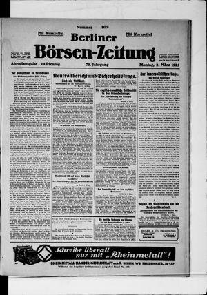 Berliner Börsen-Zeitung vom 02.03.1925