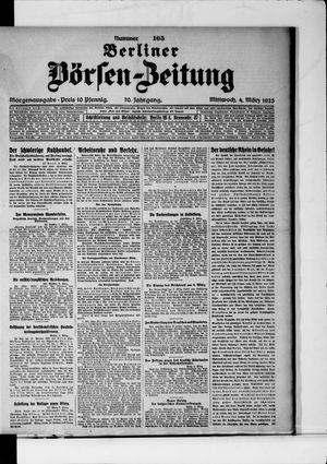Berliner Börsen-Zeitung on Mar 4, 1925