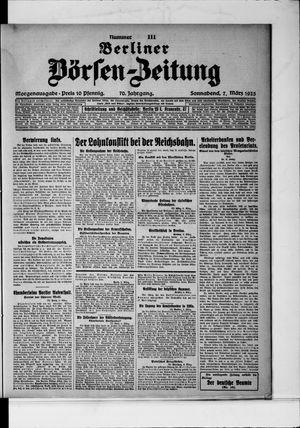 Berliner Börsen-Zeitung vom 07.03.1925