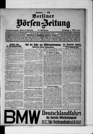 Berliner Börsen-Zeitung vom 08.03.1925