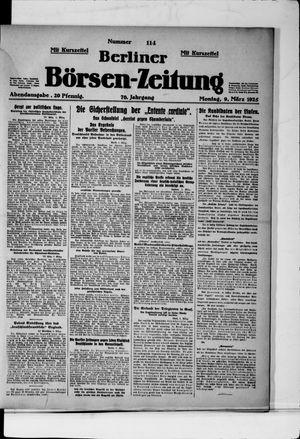 Berliner Börsen-Zeitung vom 09.03.1925