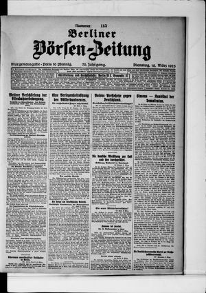 Berliner Börsen-Zeitung vom 10.03.1925