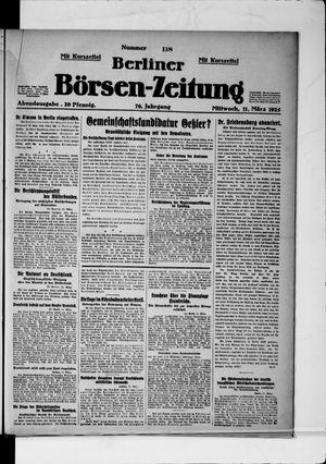 Berliner Börsen-Zeitung on Mar 11, 1925