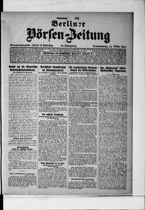 Berliner Börsen-Zeitung vom 12.03.1925