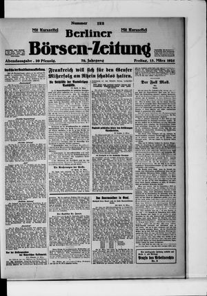 Berliner Börsen-Zeitung vom 13.03.1925