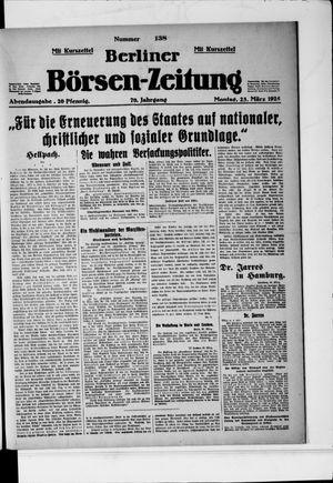 Berliner Börsen-Zeitung vom 23.03.1925