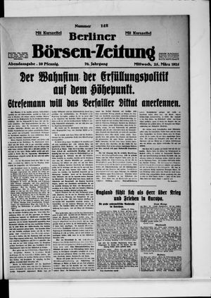 Berliner Börsen-Zeitung vom 25.03.1925