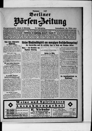 Berliner Börsen-Zeitung vom 28.03.1925