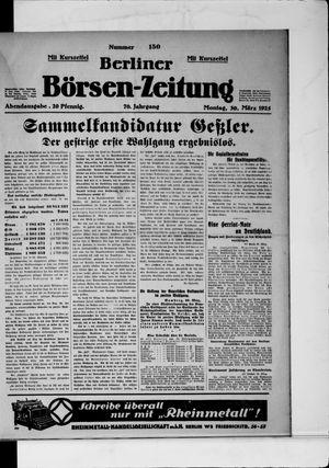 Berliner Börsen-Zeitung vom 30.03.1925