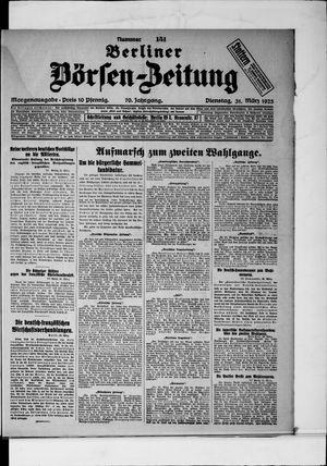 Berliner Börsen-Zeitung vom 31.03.1925