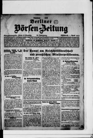 Berliner Börsen-Zeitung vom 01.04.1925