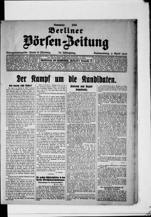 Berliner Börsen-Zeitung vom 02.04.1925