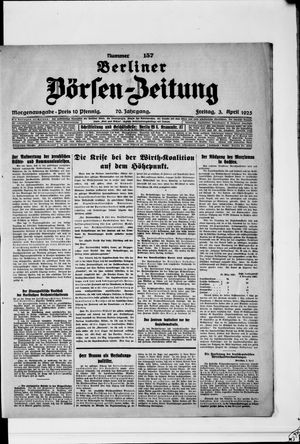 Berliner Börsen-Zeitung vom 03.04.1925