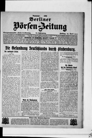 Berliner Börsen-Zeitung vom 10.04.1925