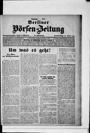 Berliner Börsen-Zeitung vom 16.04.1925